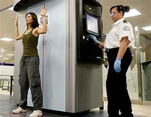 TSA scanning machine.