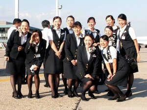 The flight attendants of JAL.